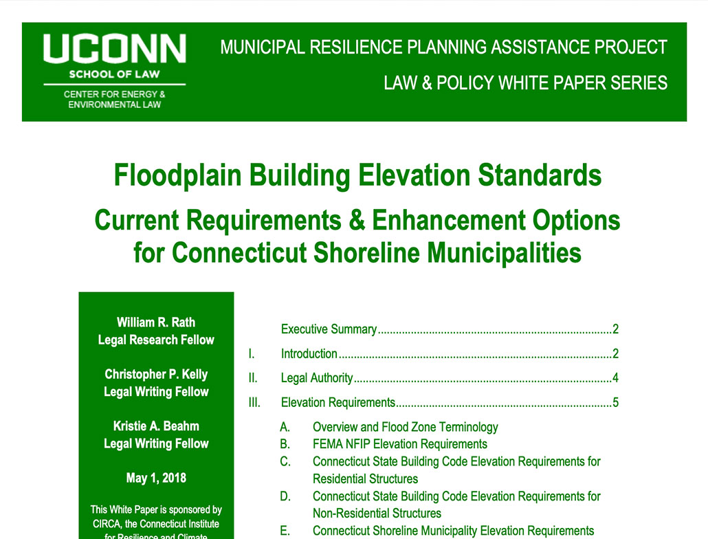 floodplain Elevation report cover